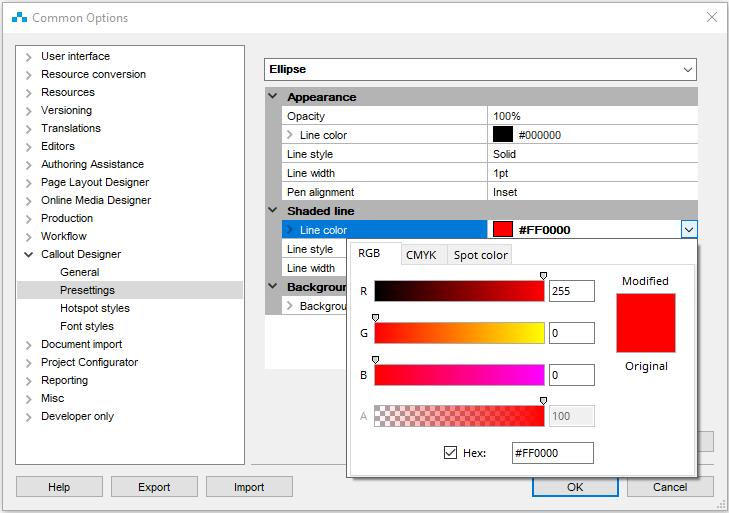 standards for design elements ins ST4