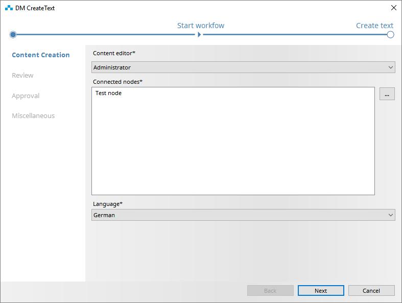 Automatically generated Workflow Wizard in SCHEMA ST4