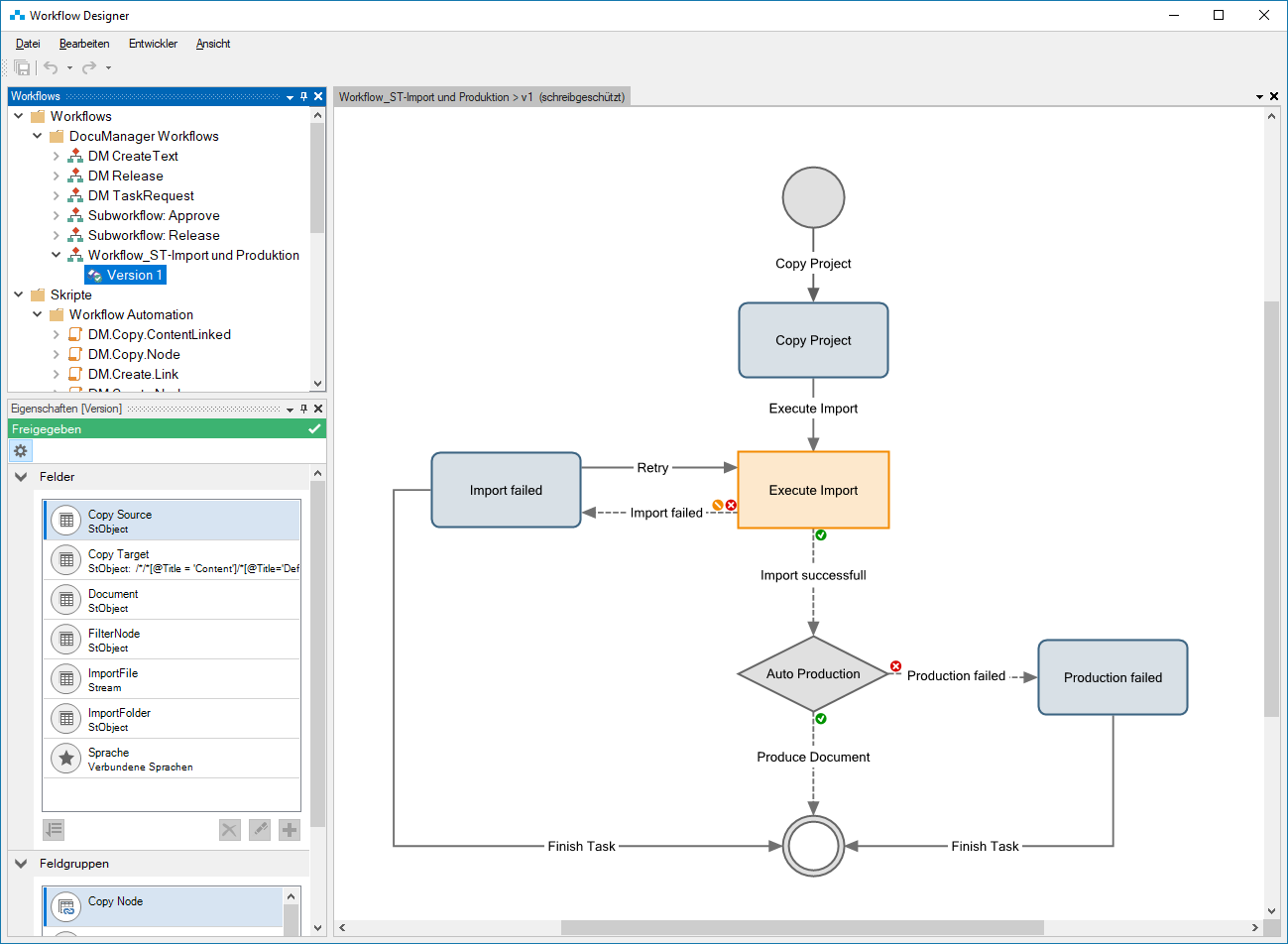 Workflow Designer using scripts from the Workflow Automation Library